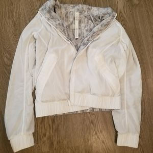 Lululemon size 6 Bombs Away bomber jacket, white